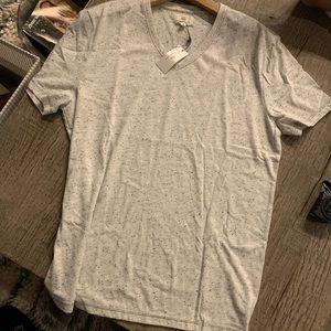 Men's AG V Neck Tee Shirt in Light Grey.